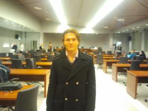 Raffaele Sollecito in court today. Photo courtesy of Frank Sfarzo