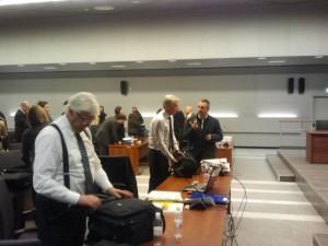 Descamisados.  Amanda Knox lawyers after their fatigue