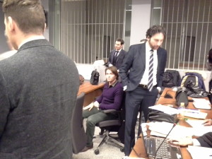 Speechless. Raffaele after the request of arrest.